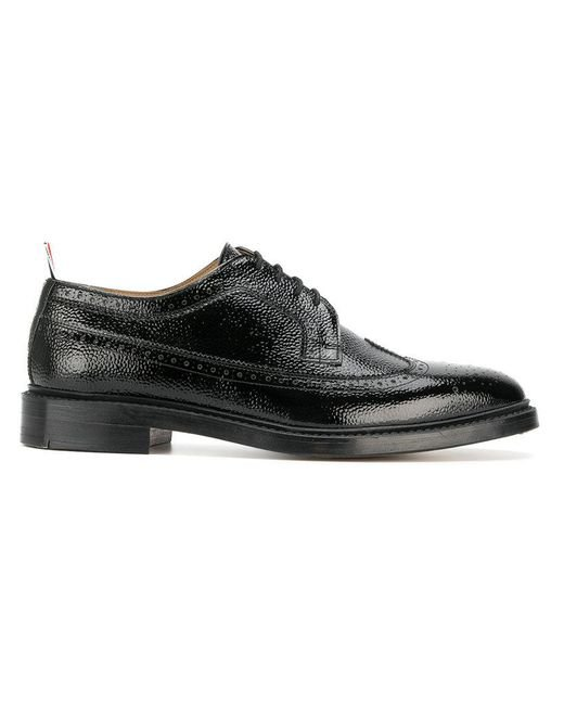 Thom Browne - Black Classic Longwing Brogue In Patent Leather for Men - Lyst