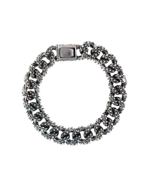 Emanuele Bicocchi | Metallic Spike Chain Bracelet for Men | Lyst