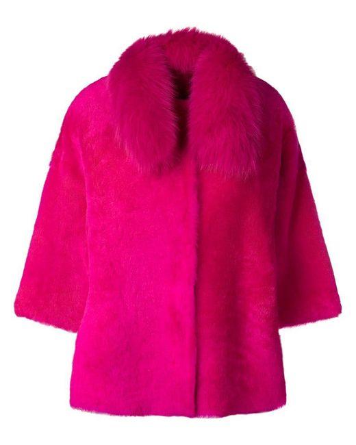 Desa Nineteenseventytwo - Pink Boxy Shearling Jacket - Lyst
