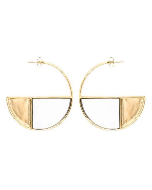 Aurelie Bidermann - Metallic 'bianca' Reversible Mirror Hoop Earrings - Lyst