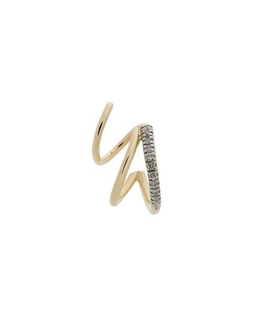 Maria Black - Metallic 14kt Yellow Gold Fury Diamond Twirl Earring - Lyst
