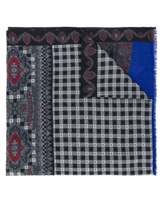 Etro   Gray Printed Paisley Scarf for Men   Lyst