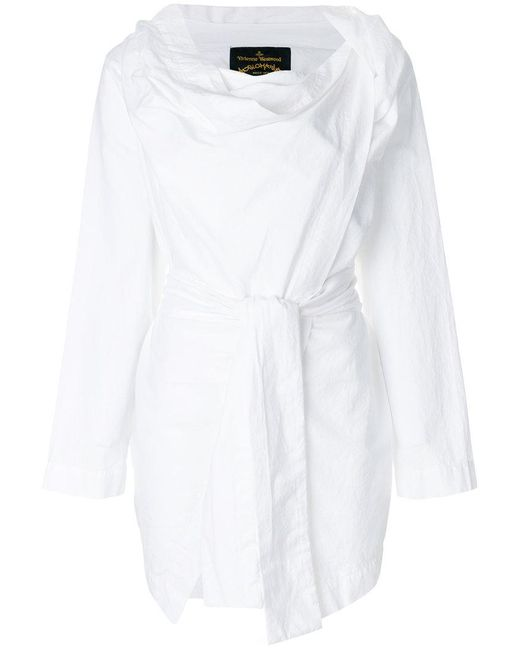 Vivienne Westwood Anglomania - White Cowl Neck Wrap Top - Lyst