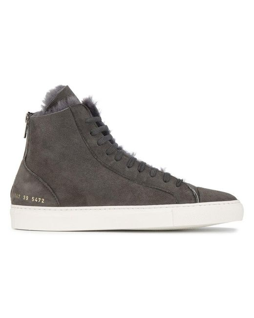 Common Projects | Gray Sneakers Alte 'tournament' | Lyst