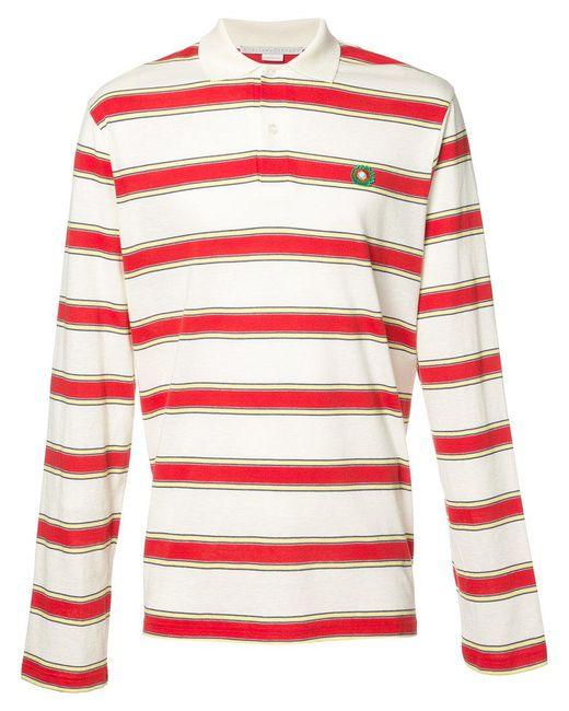 Stella McCartney - White Striped Polo Shirt for Men - Lyst