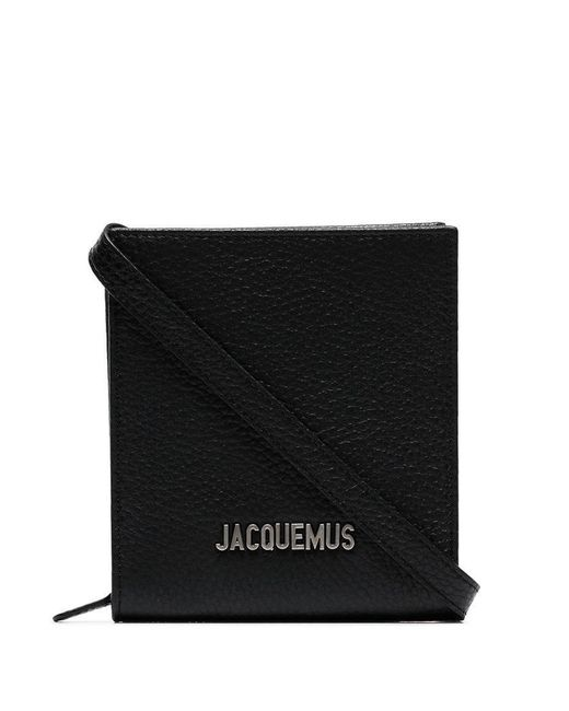 In Shoulder Jacquemus Black Leather Logo Men For Plaque Lyst Bag vrYIYUqw
