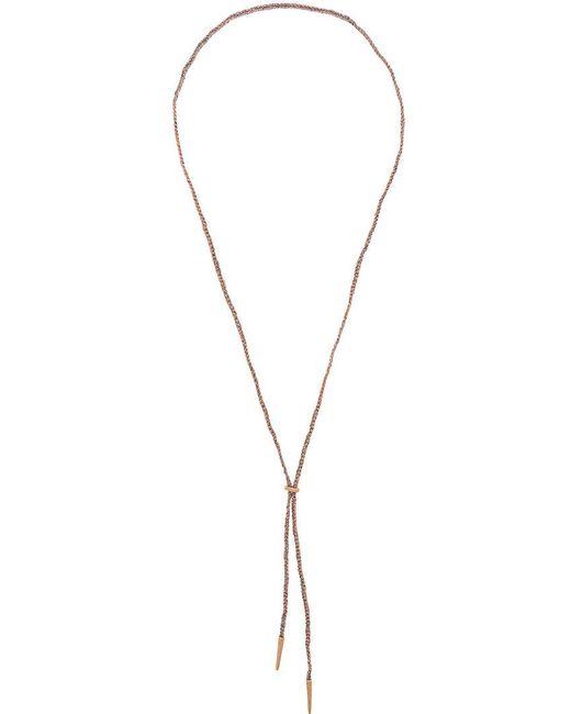 Carolina Bucci | Metallic Sparkly Lucky Lariat Necklace | Lyst