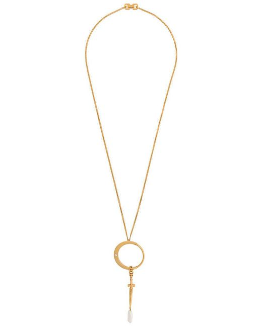 Givenchy - Metallic Dagger Necklace - Lyst