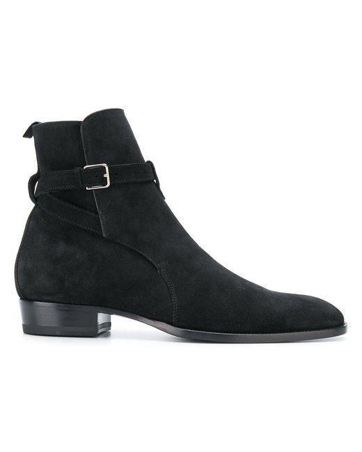 Saint Laurent - Black Wyatt 30 Jodhpur Boots for Men - Lyst