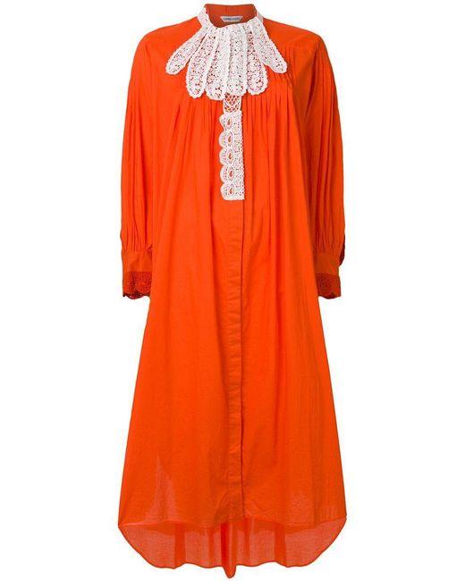 Tsumori Chisato - Orange Contrast Lace Trim Dress - Lyst