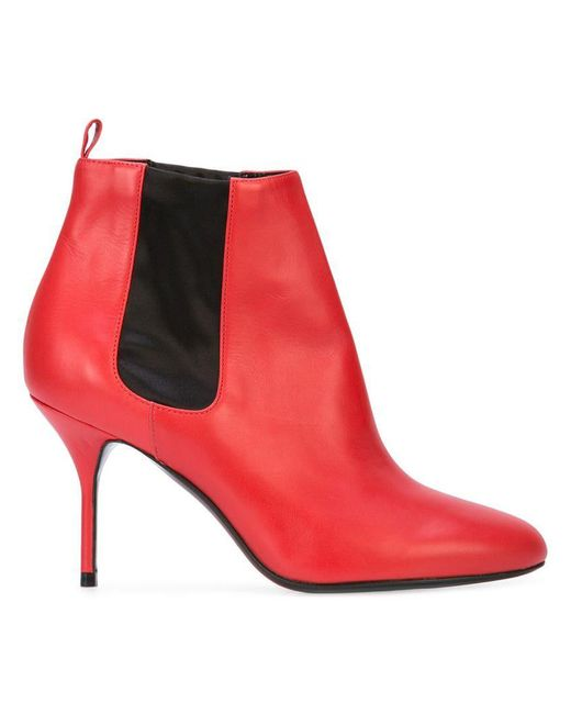 Pierre Hardy - Red Elastic Panel Stiletto Boots - Lyst
