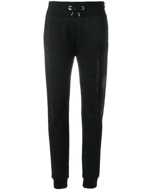 Philipp Plein - Black Sequinned Track Pants - Lyst