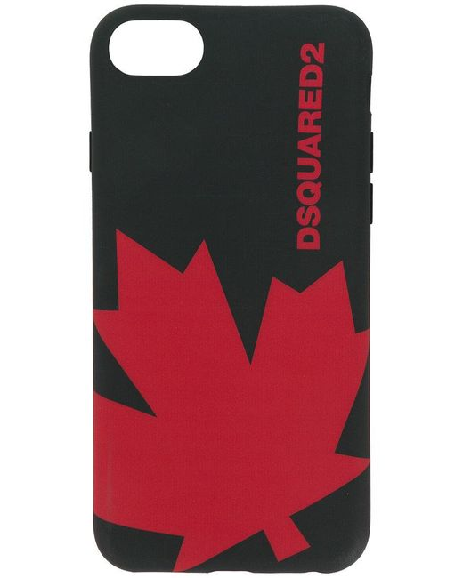 DSquared² - Black Maple Leaf Iphone 7 Case for Men - Lyst