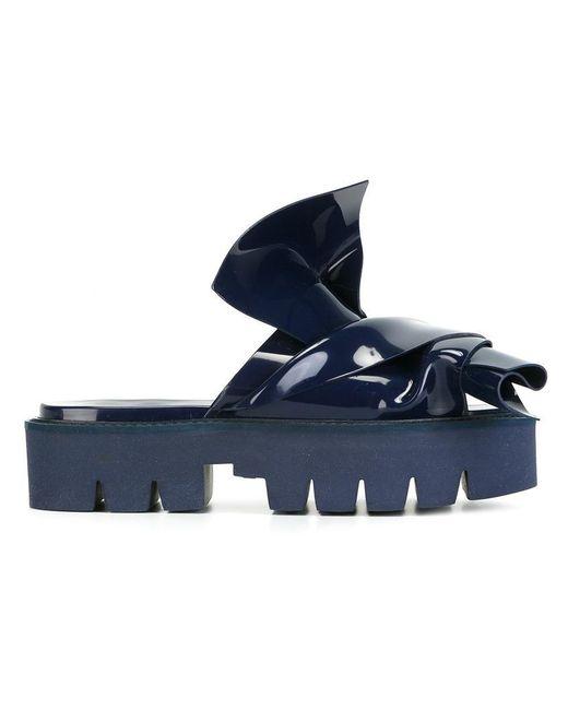 N°21 - Blue Knotted Slider Sandal - Lyst