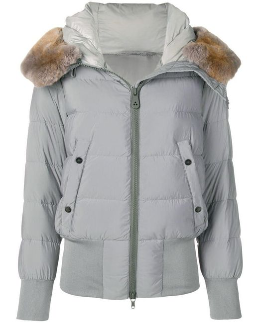 Peuterey - Gray Padded Hooded Jacket - Lyst