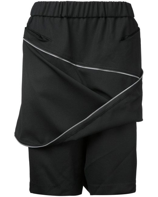 Moohong - Black Zip Front Track Shorts for Men - Lyst
