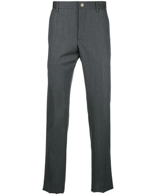 Prada - Gray Straight Leg Trousers for Men - Lyst
