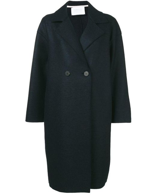 Harris Wharf London - Blue Two Button Double Breasted Coat - Lyst