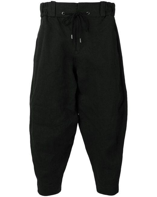 DEVOA - Black Cropped Trousers for Men - Lyst