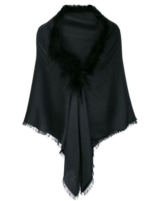 Lyst - Chal Touch Of Fur Fendi de color Negro 14ba7660635
