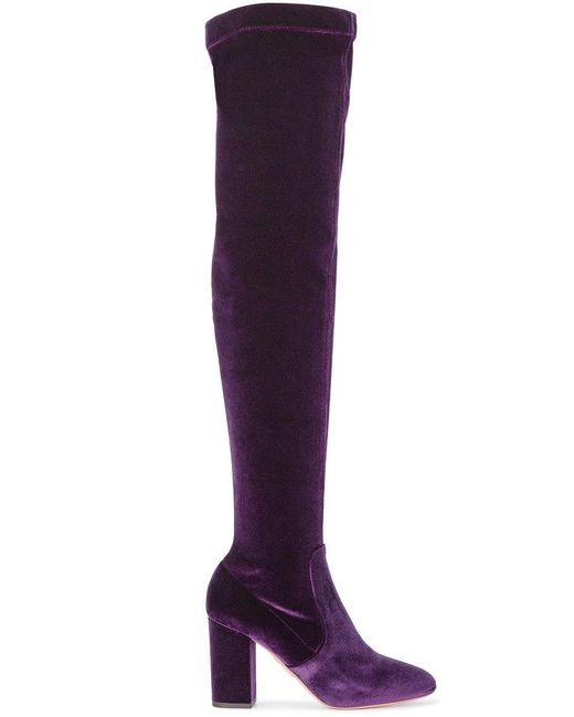 Rick Owens Drkshdw Red Suede Sybil Leek II Over-the-Knee Boots muCli