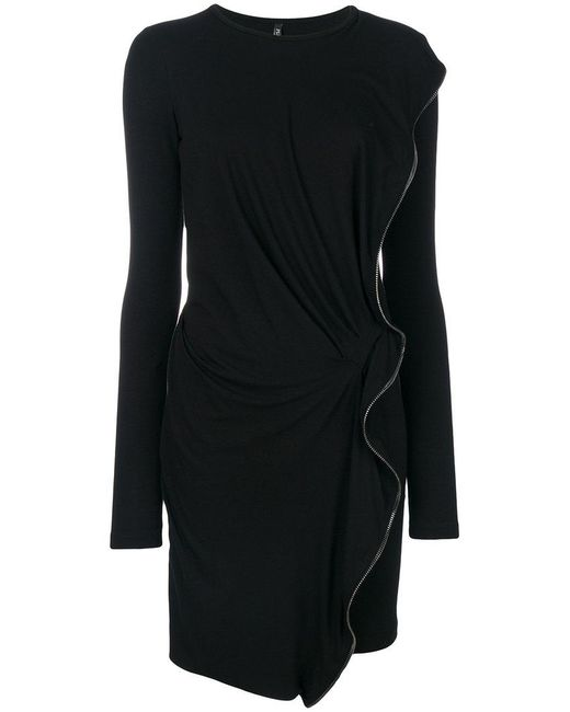 Plein Sud | Black Zip Embellished Sweater Dress | Lyst