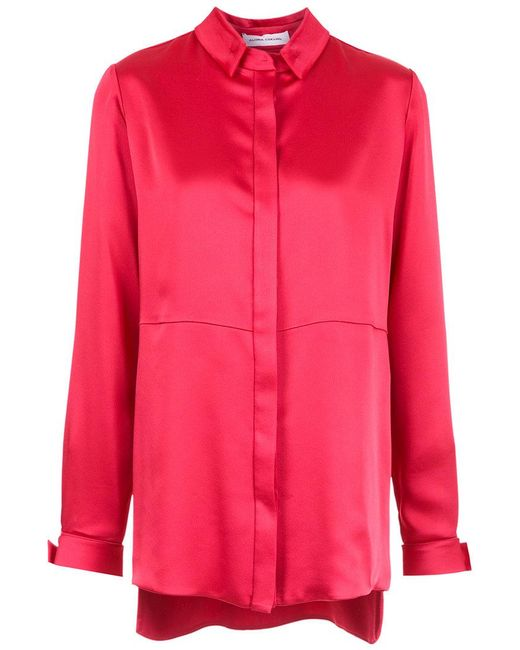 Gloria Coelho - Red Panelled Shirt - Lyst