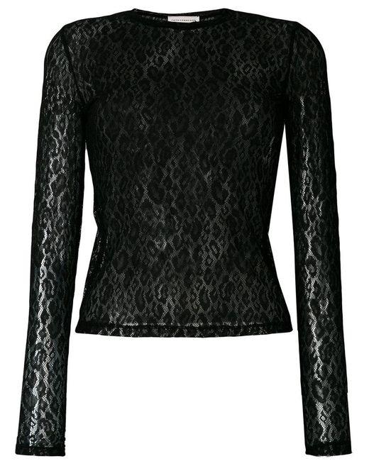 Faith Connexion - Black Lace Detail Longsleeved T-shirt - Lyst
