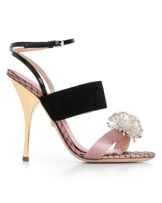 Giambattista Valli - Pink Crystal Embellished Sandals - Lyst