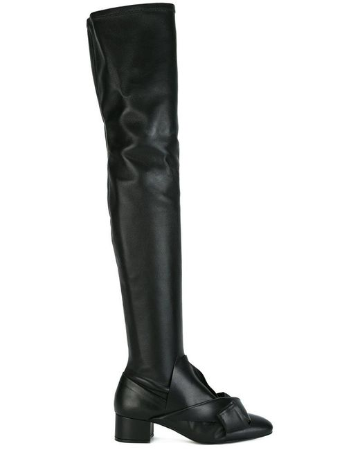 N°21 | Black Bow Detailing Boots | Lyst