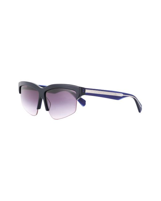 Dion Sunglasses Shiny Blue Lee Lyst rqwPrX