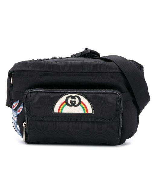 20e2d1a08 Gucci - Black '80s Patch Belt Bag for Men - Lyst ...