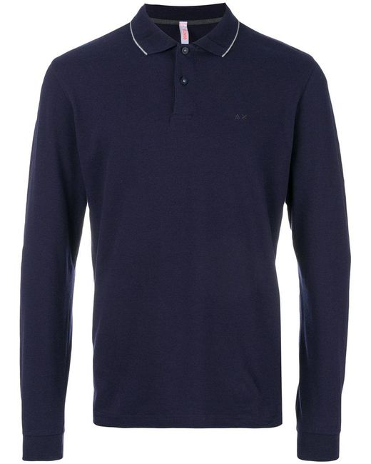 Sun 68 | Blue Fitted Polo Top for Men | Lyst