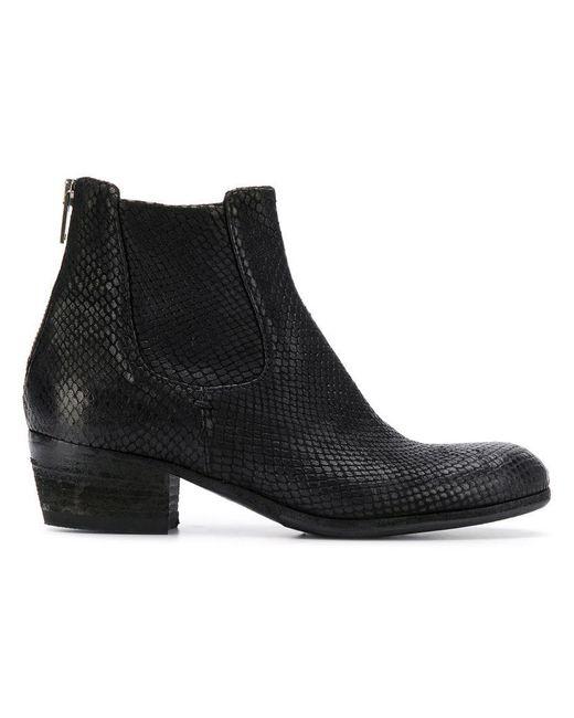 6ddb85f139aff Pantanetti - Black Low Heel Chelsea Boots - Lyst ...