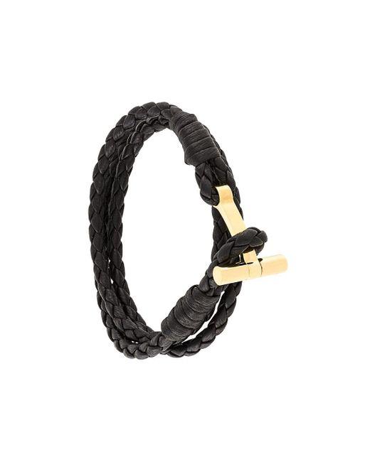 Bracelet double tour T Tom Ford pour homme en coloris Brown
