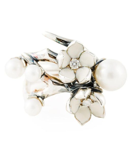 Shaun Leane - White 'cherry Blossom' Diamond Ring - Lyst