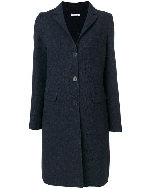 P.A.R.O.S.H. | Blue Single Breasted Coat | Lyst