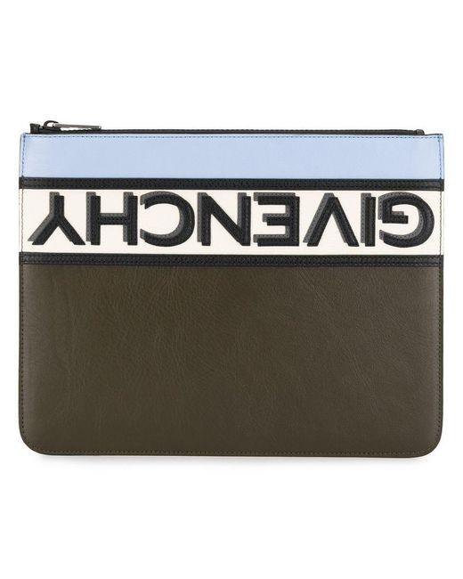 f344d9610f47 Givenchy - Black Reverse Logo Clutch Bag for Men - Lyst ...
