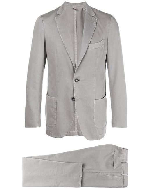 Dell'Oglio - Gray Classic Two-piece Suit for Men - Lyst