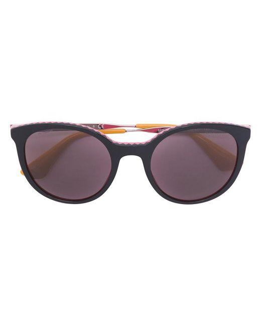 1369d57591 Prada - Multicolor Zig-zag Detail Oversized Sunglasses - Lyst ...