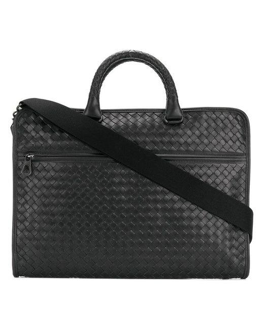 d426f8e55cbe Bottega Veneta - Black Borsa Da Lavoro Porta Pc for Men - Lyst ...