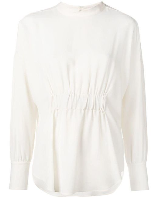 Glanshirt - White Ruched Blouse - Lyst