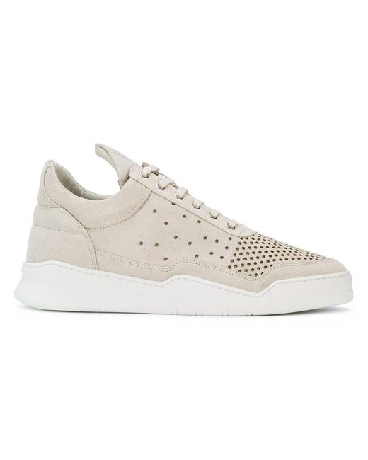 Filling Pieces - Natural Ghost Gradient Perforated Low Top Sneakers for Men - Lyst