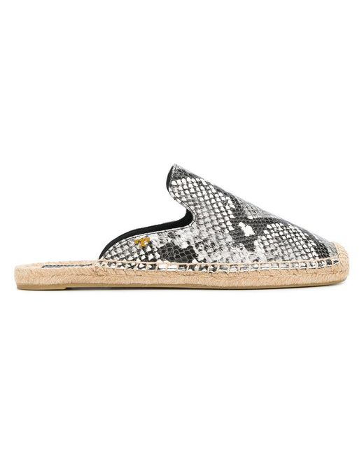 Tory Burch - Gray Espadrille Mules - Lyst