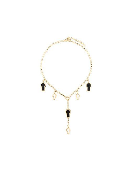 Gavello - Metallic Cross Charm Necklace - Lyst