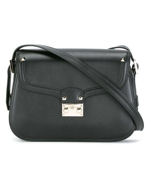 6cdde39c2e57a Valentino - Black Garavani Rockstud Shoulder Bag - Lyst ...