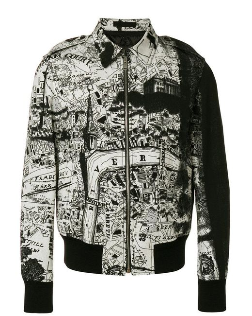 Alexander McQueen - Black City Map Bomber Jacket for Men - Lyst