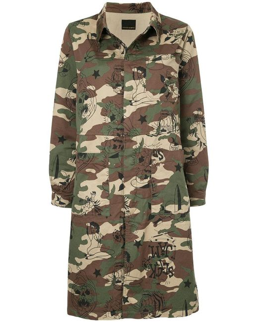 Hysteric Glamour - Green Camo Print Coat - Lyst