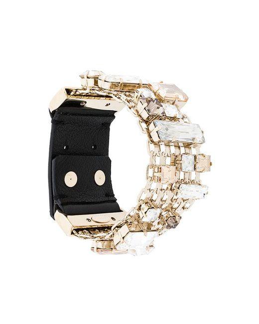 Lanvin | Metallic Encrusted Chain Bracelet | Lyst