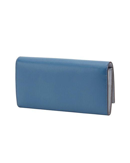 bb14dff4c2d9 ... Fendi - Blue Peekaboo Continental Wallet - Lyst ...